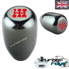 GREY 5 SPEED BILLET ALUMINIUM GEAR KNOB Fits HONDA CIVIC INTEGRA CRX  M10x1.5