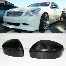 PAIR CARBON FIBER DIRECT ADD-ON MIRROR COVER FOR 09-15 INFINITI G25 G37 Q40 Q60