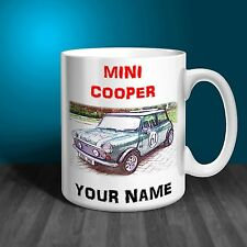 Mini Cooper  Personalised Ceramic Mug Gift. (C004)
