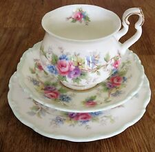 Royal Albert TEA CUP Vintage Trio Colleen Pastello Floreale inglese China-Varie
