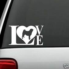 B1087 Pug Dog LOVE Decal Sticker for Car Truck SUV Van LAPTOP