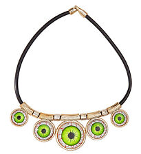 EYE'S NECKLACE HALLOWEEN FANCY DRESS ACCESSORY SCARY WITCH