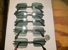 5 PAIR SUPER WIRE FRAME GLASS LENSE 1960,s SUN GLASSES-----NEVER USED-VINTAGE---