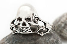 Genuino 925 Plata Esterlina Anillo De Calavera Punk Gótico-,, rock, Biker Talla 58.47mm R