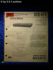 Sony Service Manual SEQ 411 Graphic Equalizer  (#0967)