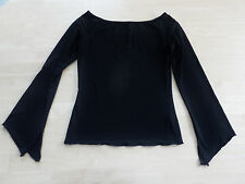 EURONOVA Made in Italy Stretch Shirt Gr. S schwarz