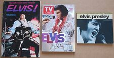Lot of 3 Elvis Presley Magazines Books Complete Guide TV Biography