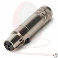 Switchcraft Tini Q-G® 4 Pin TA4FSH Mini XLR Connector, Steel Shell.