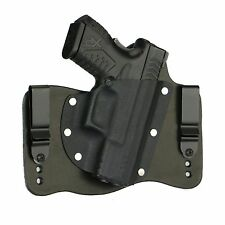 FoxX Leather & Kydex IWB Hybrid Holster Springfield XDM 3.8 9/40/45 Right Black