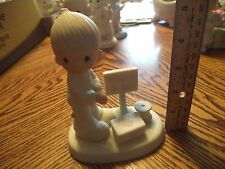 "PRECIOUS MOMENTS FIGURINE ""LORD, GIVE ME PATIENCE"" E-7159 DOCTOR NO BOX"