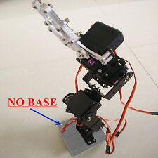 6DOF Aluminium Mechanical Robotic Arm Clamp Claw Mount Robot Kit Set HH