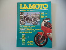 LA MOTO 10/1989 DUCATI 750 SPORT/YAMAHA TDR 125 250/APRILIA RED ROSE/LAMBRETTA