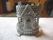 """Vintage Carson Pewter Glass Candle Holder """" BEAUTIFUL COLLECTIBLE USEABLE ITEM """""""