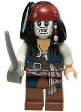 LEGO Pirates of the Caribbean Jack Sparrow Zombie Minifigure NEW + Sword