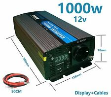 Inverter Wave Pure 1000W 2000W 12V TO 220V Converter With LCD