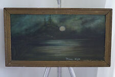 Oil on canvs signed Silvery Night . possible Ralph alert blakelook  1847-1919