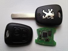 GENUINE PEUGEOT 207 307 407 ETC (FULLY WORK) 2 BUTTON REMOTE ALARM UNCUT KEY FOB
