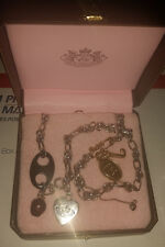 "Juicy Couture 18"" Charm Chain Necklace w/ Strawberry, Safety Pin, Heart, & More"