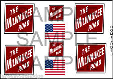 HO SCALE MILWAUKEE ROAD  CONTAINER MODEL BOX CAR TRUCK DECAL HOMILRD10