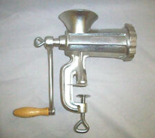 New Rand Manual Meat Grinder #10/With Sausage Stuffer Tubes number 10 clamp