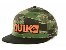 New Quiksilver Blocked Flex Fit Hat Cap Camo