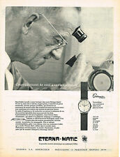 PUBLICITE ADVERTISING 0314   1956   ETERNA MATIC   montre CENTENAIRE HANS KOLLER