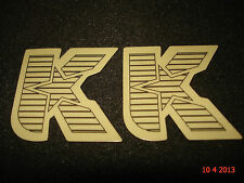 "2 AUTHENTIC KINK BMX BIKE FRAME ""K"" LOGO STICKERS #21 / DECALS / AUFKLEBER"