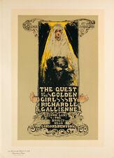 Les Maitres de l'Affiche pl.128 The Quest by Ethel Reed Original Poster