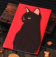 Holiday Greeting Cards Korea Cats C Message Memo Card X'mas Gift 1pc ☆