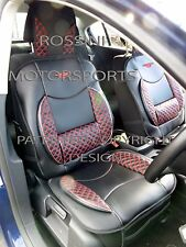 FORD FOCUS CAR SEAT COVERS DIAMOND STITCH PADDED LUMBAR COVER (1 PAIR)