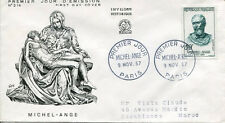 FRANCE FDC - 223 1133 3 MICHEL ANGE 9 11 1957
