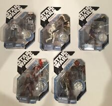 LOT OF 5 STAR WARS 30TH ANN CONCEPT ACTION FIG  - LUKE/SNOW/CHEWIE/HAN/REBEL MOC