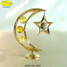 LUNA CON STELLA 24K GOLD PLATED SWAROVSKI ELEMENTS