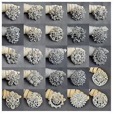 100 pcs Brooch Wholesale Lot Rhinestone Crystal Pin Wedding Bouquet DIY Kit