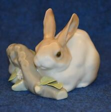 Lovely Lladro Rabbit Eating Flowers On Log Figurine No 4772 USC RD4460