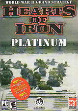 HEARTS OF IRON PLATINUM Strategy PC Game NEW in BOX