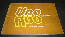 Betriebsanleitung Handbuch Fiat Uno Stand Juli 1985 Bedienungsanleitung