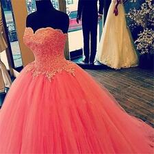 Elegant Peach Prom Formal Evening Gown 15 16 Years Applique Quinceanera Dresses