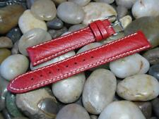 18mm Hirsch Jumper Red Buffalo Grain Genuine Calf Leather Sport Watch Band strap
