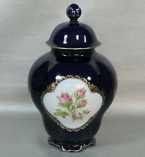 Lindner Real Cobalt Cobalt 1 Lidded Vase Deckelgefäß Height 10.6299""