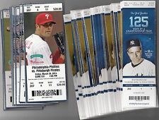 2014 MLB BASEBALL TICKET STUB LOT OF 1500+ UNUSED TICKETS YANKEES RED SOX GIANTS