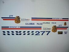 Columbus Ohio NEW!!! Police Car Decals  1:24 Custom  FREE US SHIPPING