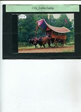 P819 # MALAYSIA USED PICTURE POST CARD * MALAY BULLOCK CART