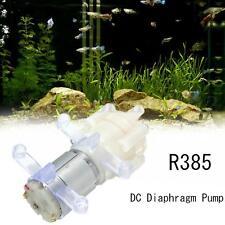 Acuario Pecera Round Bomba de Agua Aire Diafragma DC12V R385 + Silicona Buckle