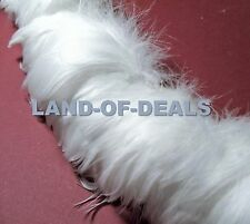 240+ small White goose coquille feathers strung bulk wholesale feather 1 ft