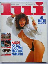 D- Lui 11/1984, Mindy Miller, Elke Sommer, Nastassja Kinski, Nena, Jennifer Rush