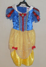 NEW SNOW WHITE Disney COSTUME Dress GOWN Halloween Princess GIRLS S Small 4 5 6