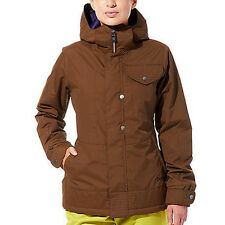 Burton Method Jacket Womens Snowboard Ski Waterproof 100g Insulate Brown S