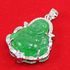 New Lucky  18KGP Crystal Buddha Pendant+Free Necklace 025
