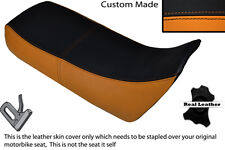 BLACK & ORANGE CUSTOM FITS HONDA XRV 750 AFRICA TWIN 96-03 DUAL SEAT COVER